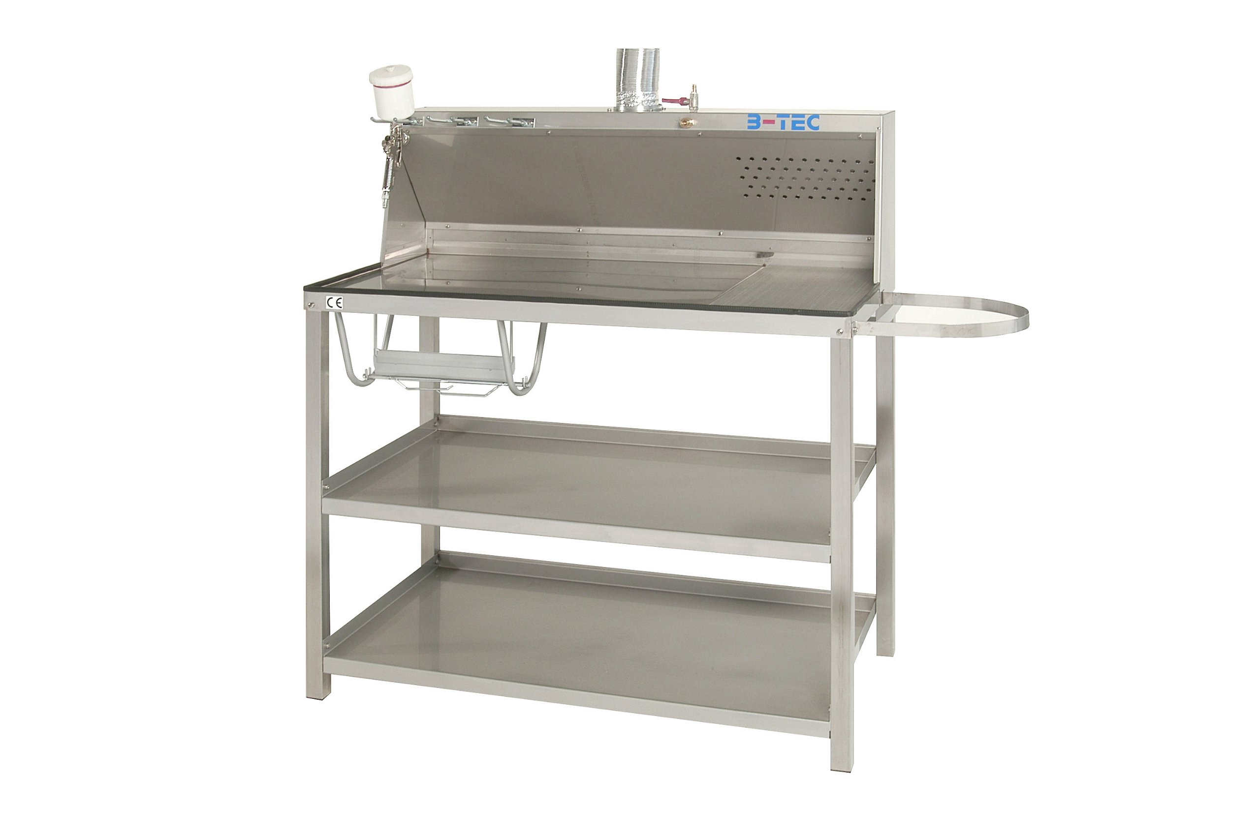B-TEC Systems P-02 Stainless Steel Mixing and Work Table with Air Exhausting System, 56-1/2'' Length x 24'' Width x 55-1/2'' Height