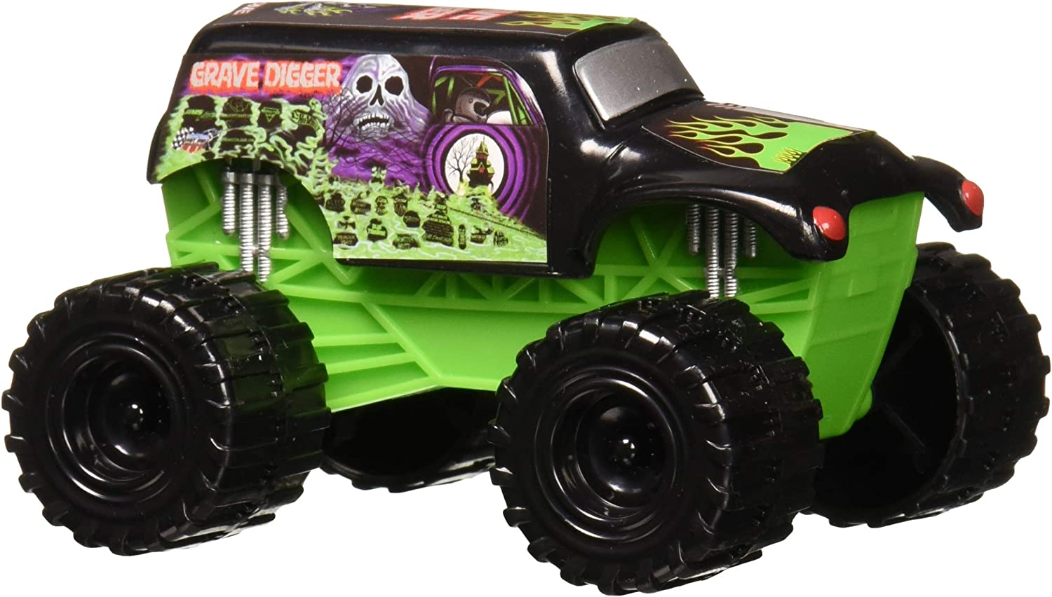 Swell Amazon Com Monster Jam Grave Digger Truck Cake Topper Toys Games Funny Birthday Cards Online Alyptdamsfinfo