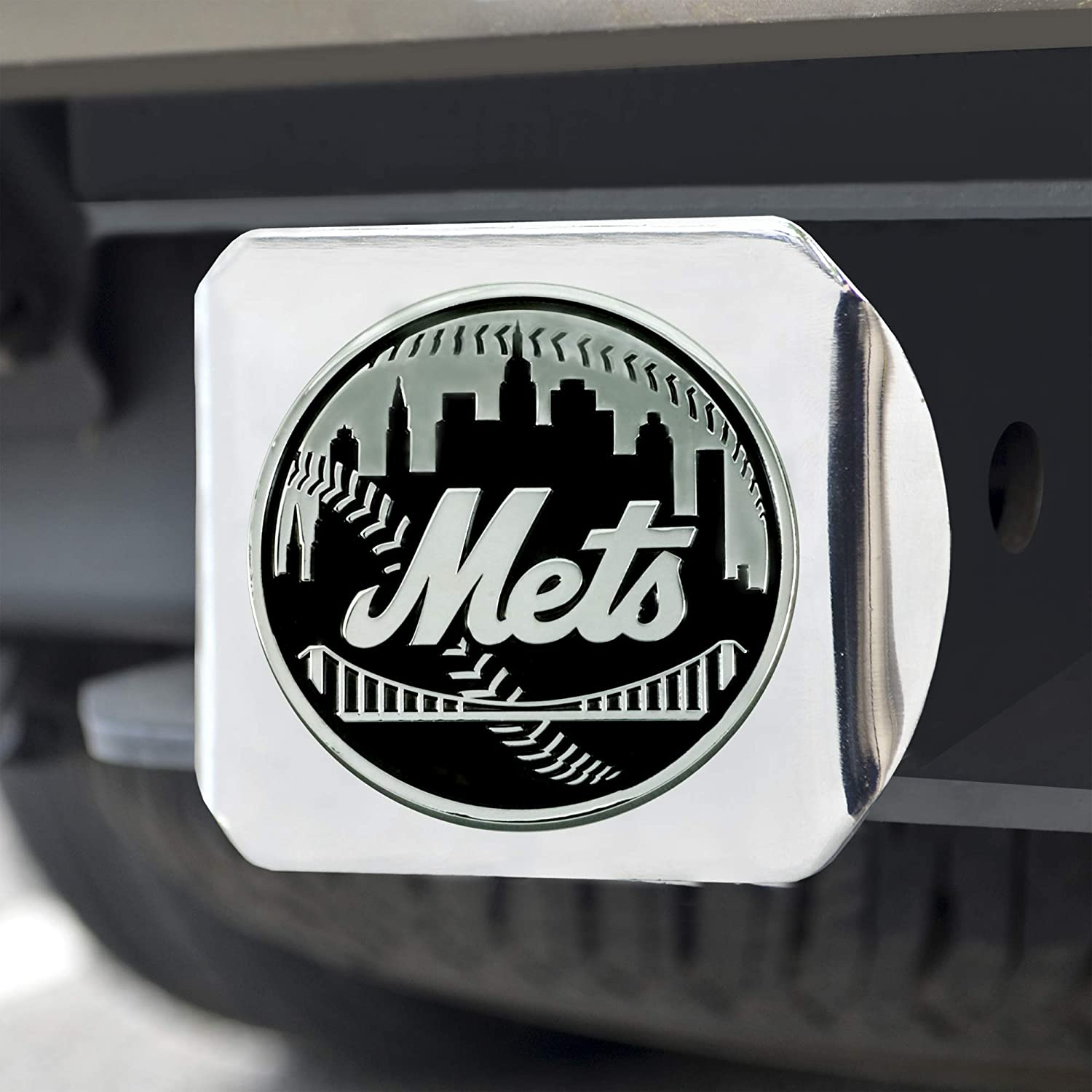 FANMATS 26647 MLB New York Mets Hitch Cover Chrome