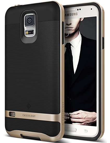 new arrivals 72aca ceb67 Caseology Wavelength for Galaxy S5 Case (2014) - Stylish Grip Design -  Black/Gold