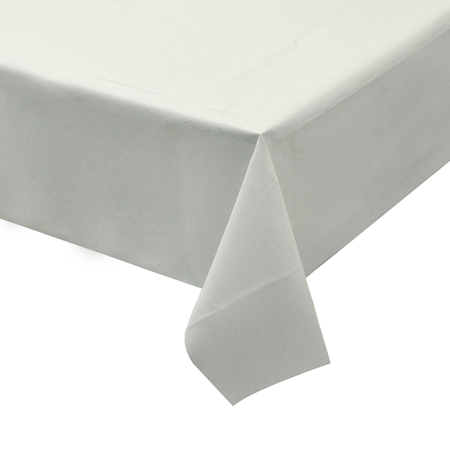 Party Bargains Disposable Table Cover | Classic White Paper 3 Ply Premium & Elegant Plastic Table Covers - Size 54'' X 108'' | Pack of 5 by Party Bargains (Image #3)