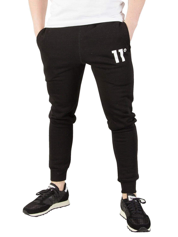 11 Degrees Men's Base Logo Joggers, Black
