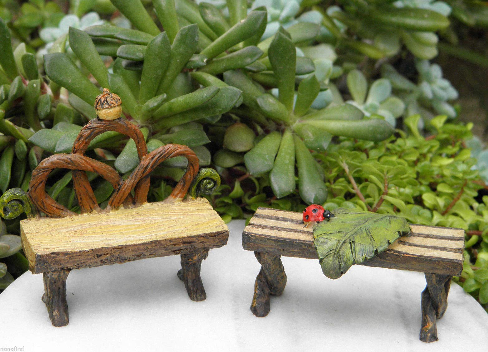 Adjore Miniature Dollhouse Fairy Garden ~ Pixie Enchanted Forest Table & Bench ~ Best Outdoor Accessory
