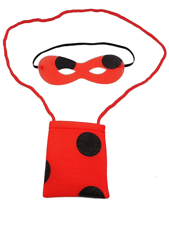pequeños monelli Soporte y Bolsa Ladybug niña máscara Lady Bug ...