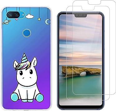 jrester Funda Xiaomi Mi 8 Lite,Lindo Unicornio Flexible Suave ...