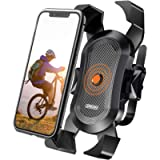 Bike Phone Mount, Secure Lock & Bicycle Cell Phone Holder for Mountain Bike Handlebar, Compatible with Most 4-6.8 inch…