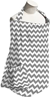 product image for Planet Wise Baby Nursing Cover for Breastfeeding, Gray Chevron