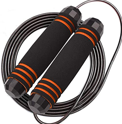 GeeRic Adjustable Skipping Rope for Crossfit Professional Steel Wire 360/° Swivel Ball Bearing Groove Handle Jump Rope Ideal for Aerobic Exercise Speed//Endurance Training Fitness 3M Jump Ropes