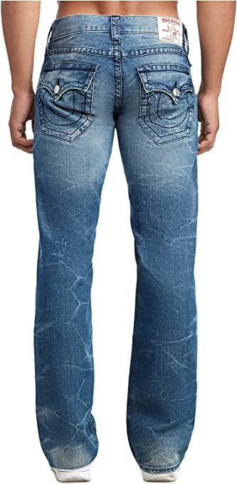 Amazon Com True Religion Botas Cortadas Para Hombre Con Solapa Vaqueros Lavado De Wagon Roto 30 Clothing