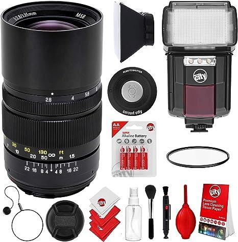 Oshiro 135mm f/2.8 LD UNC AL Telephoto Full Frame Prime Lente para ...