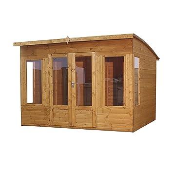 10x8 Shiplap Wooden Helios Garden Summerhouse - Curved Roof Double Doors \u0026 Felt Included -  sc 1 st  Amazon UK & 10x8 Shiplap Wooden Helios Garden Summerhouse - Curved Roof ...