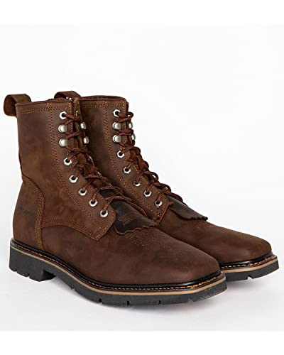 0992a34b862 Cody James Men s Lace Up Kiltie Work Boot Square Toe Brown 8.5 D