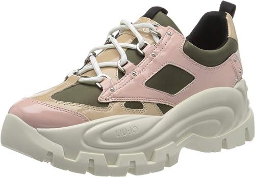 super calidad mejores zapatillas de deporte última moda Liu Jo Wave 01-Sneaker Olive/Pink, Zapatillas para Mujer: Amazon ...
