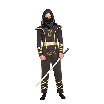 My Other Me Me-204890 Disfraz de ninja para hombre, Color negro, ML (Viving Costumes 204890