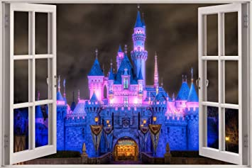 Enchanted Princess Castle 3D Window Decal WALL STICKER Home Decor Art  Wallpaper, Giant C076 Part 65