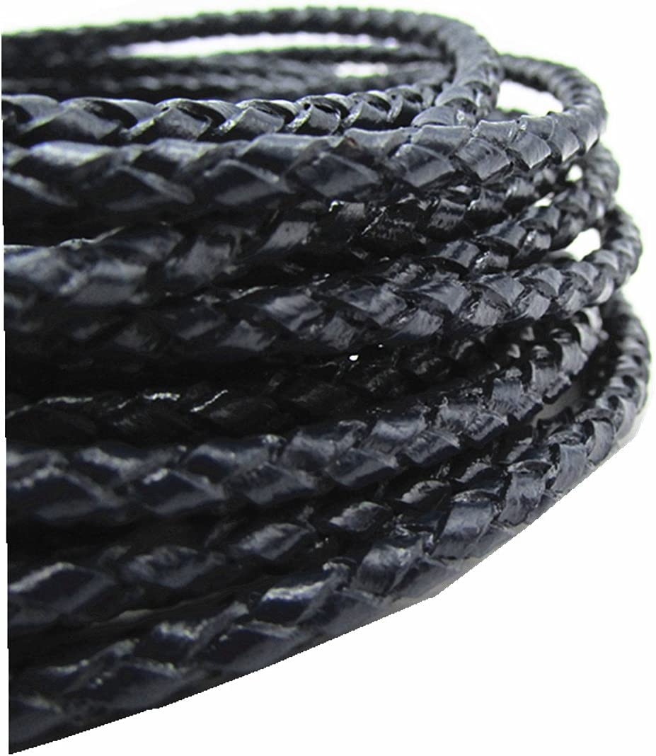 Blue thingpad Braided Leather Cord for Necklace Bracelet Jewelry Making 5M