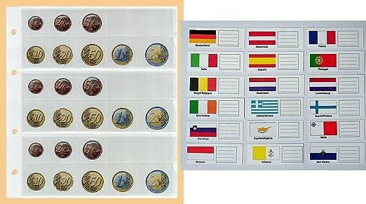 Prophila 5 Kleine Münz Hüllen Euro Münzen Mit Flaggenschildchen