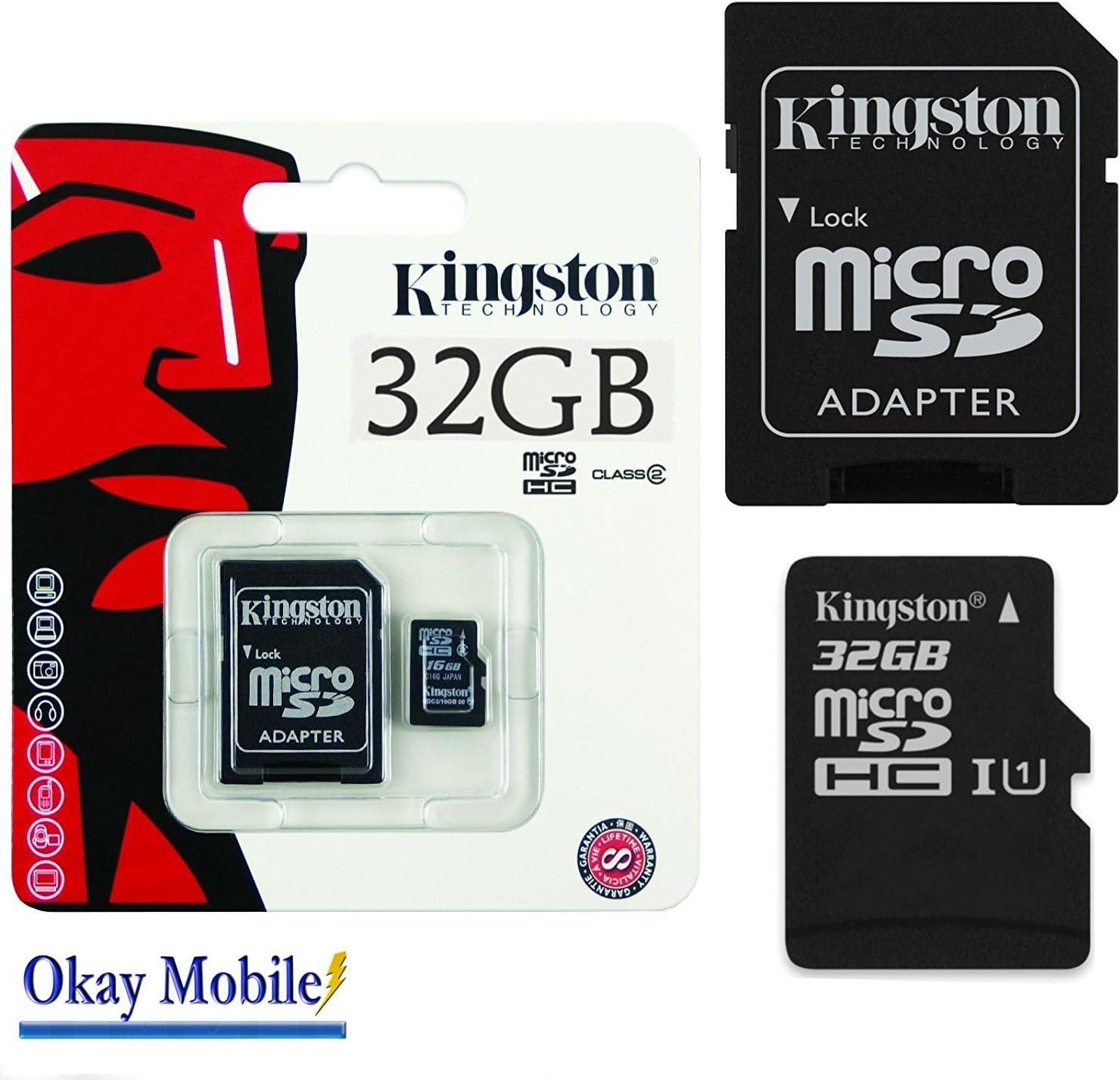 Okay Mobile Original Kingston MicroSD Tarjeta De Memoria SDHC 32GB para Samsung Galaxy A3(7) (2017) 32GB