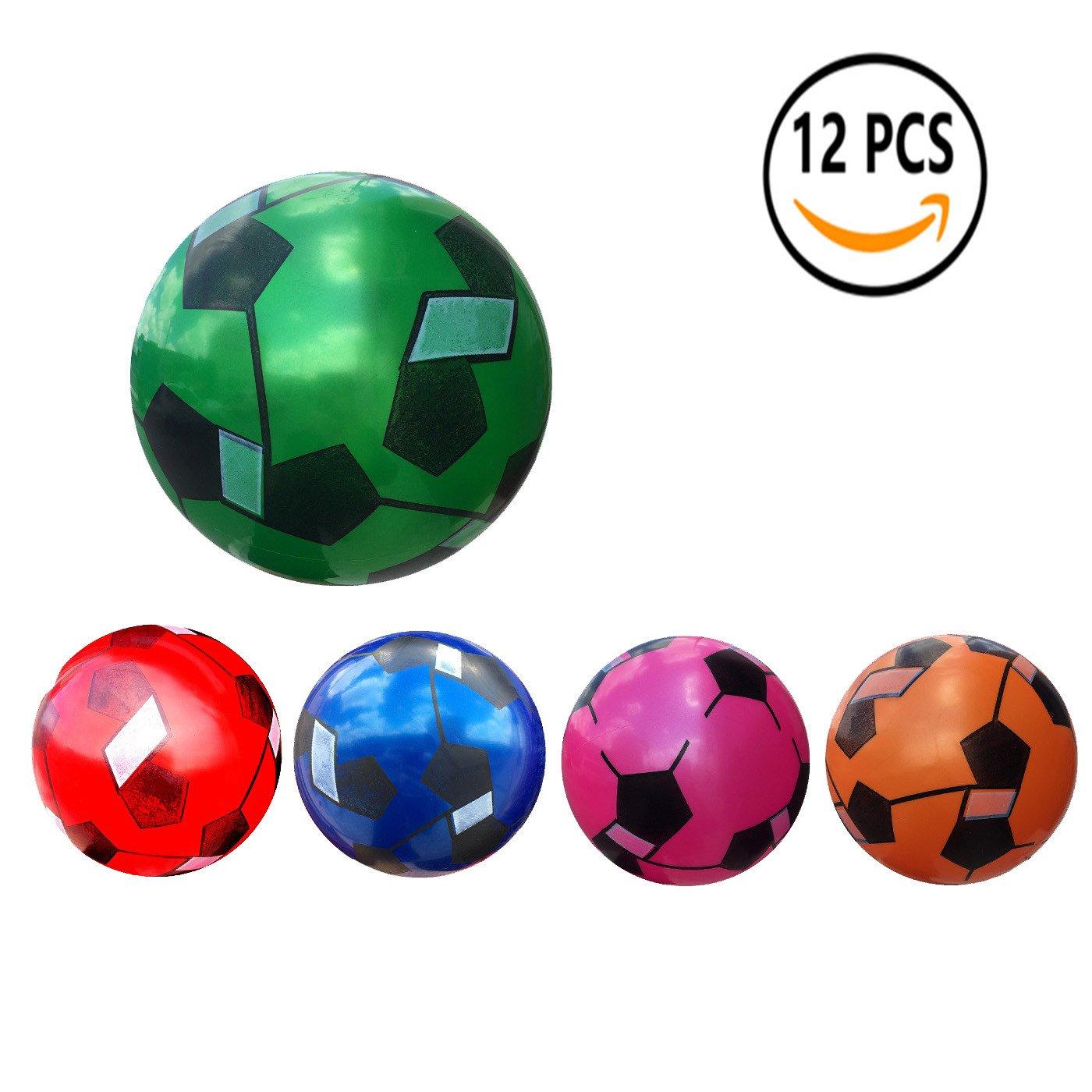 12 Pcs Juguete De Pelota De Playa De Balon 22CM (Fútbol de colores ...