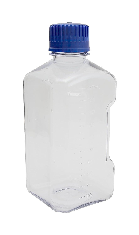 2000mL Capacity Dynalon 626284-2000 Polycarbonate Graduated Media Bottle with Polypropylene Closure