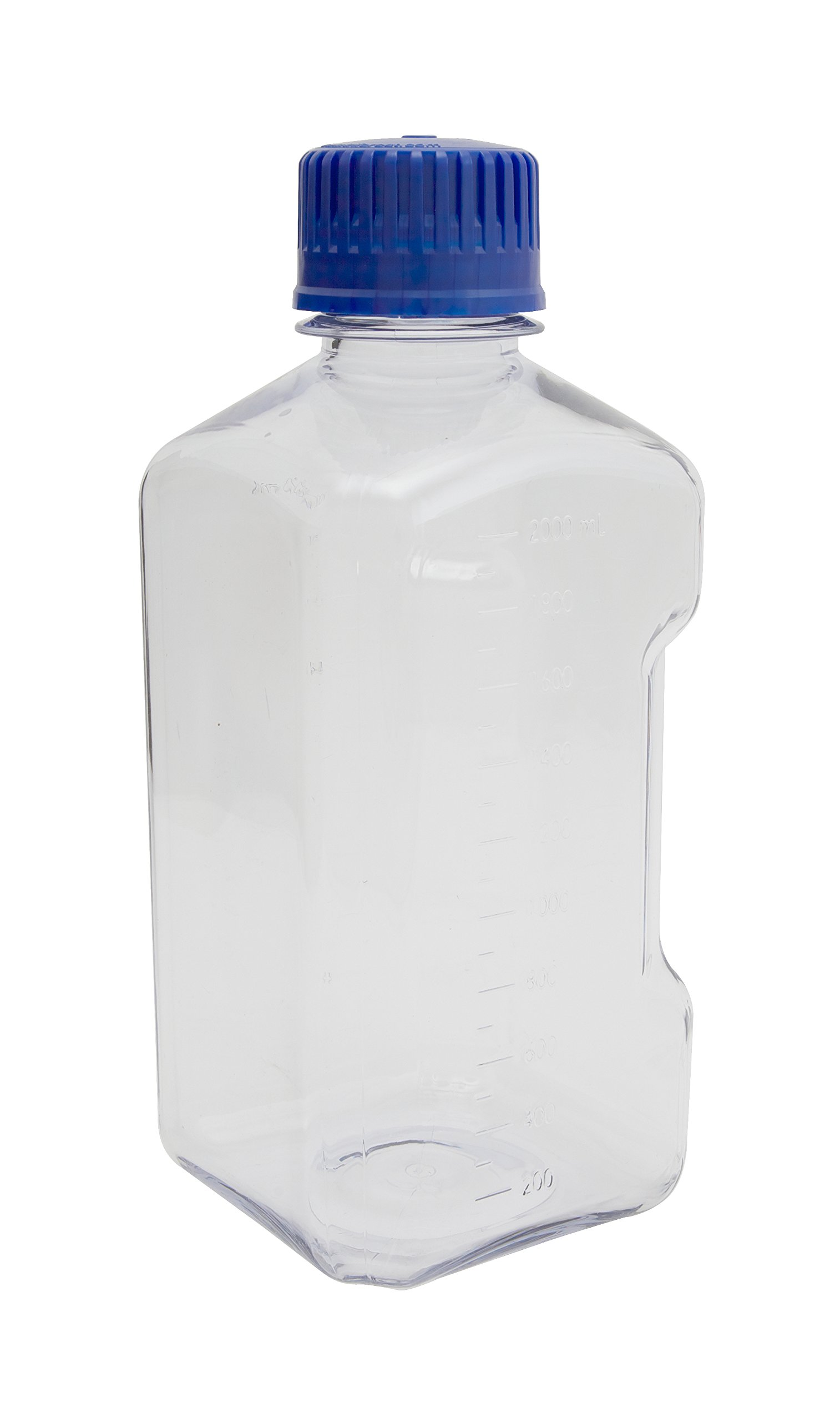 Dynalon 626284-2000 Polycarbonate Graduated Media Bottle with Polypropylene Closure, 2000mL Capacity
