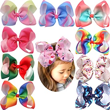 10pcs Baby Girls Hair Bows For Kids Hair accessories Alligator Hair Clips