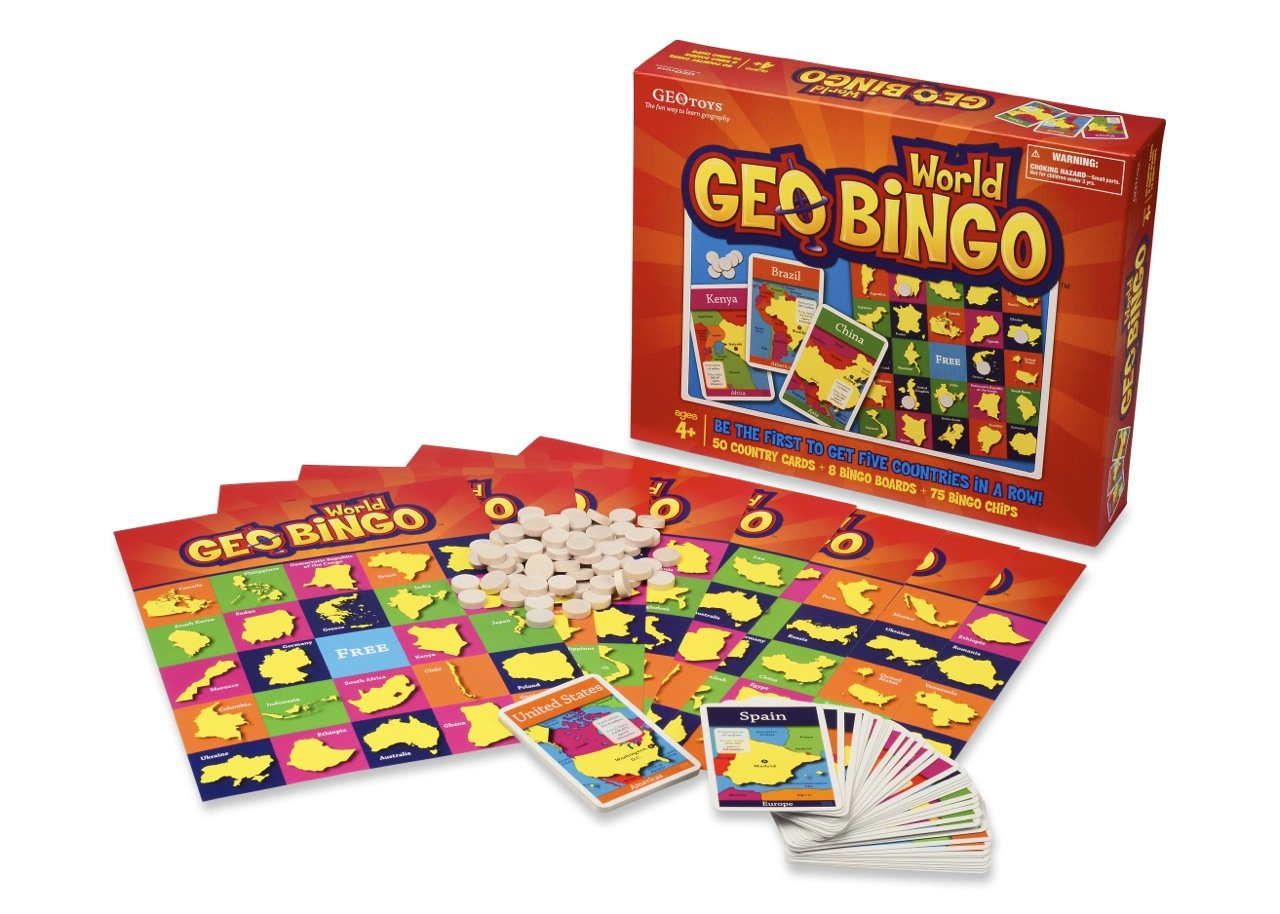 Amazoncom GeoBingo World Educational Geography Board Game - Free geography games