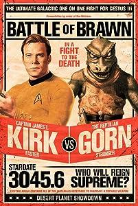 """Star Trek Poster - Captain Kirk vs The Reptilian Gorn (24""""x36"""")"""