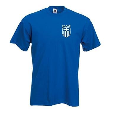 87a6b0d4d Amazon.com  Invicta Greece Greek Football Team Soccer T Shirt (XX ...