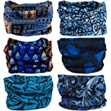 9PCS & 6PCS Headwear, Headband Scarf Bandanna Headwrap Mask Neckwarmer & More 12-in-1 Multifunctional Stretchable Sport & Casual