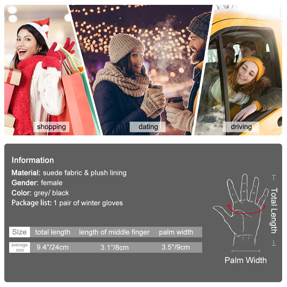 Women Winter Gloves Warm Touch Screen Gloves Driving Gloves for Ladies