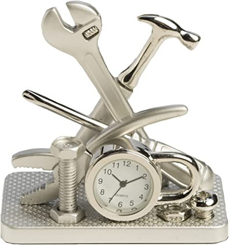 Sanis Enterprises 2.75 x 2.75 Silver Multi Tool Clock, 2.75 by 2.75