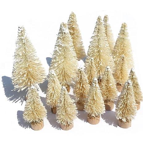 tiny christmas tree snow globe tabletop miniature artificial xmas pine trees diy party window ornaments snow - Tiny Christmas Tree