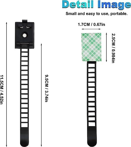 Kabelclips 100 Set Kabelclips und Schrauben Kabelhalter mit Klebstoff Gesicherte Unterlage Selbstklebende Kabelklemme mit einer Qualit/ät von bis zu 3m zum Organisieren von Desktops