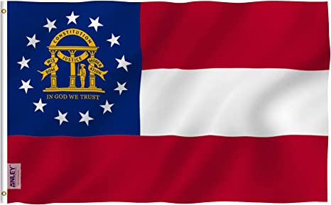 Lifesmells Old CSA Southern States Flag 3x5 ft by Polyester,Old Georgia State 3x5 Feet Flag