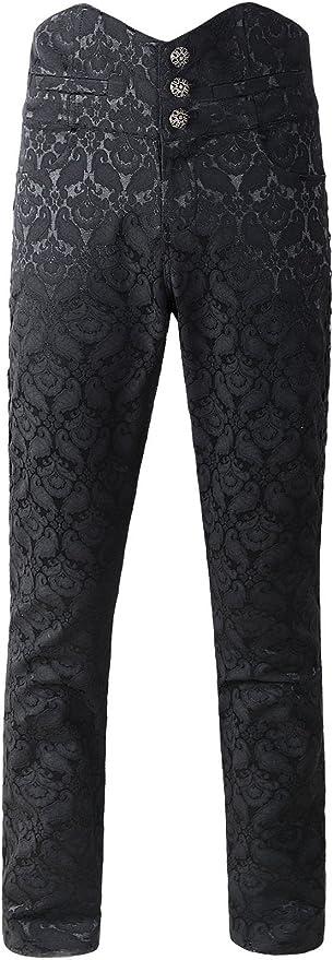 Devil Fashion Mens Obscura Trousers Pants Black Steampunk  Gothic Victorian