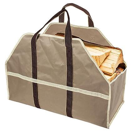 Leña bolsa madera Log Carrier Bolsa de gran capacidad Fuerte y Duradera de leña para chimeneas