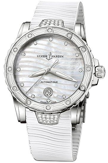 Nueva Ulysse Nardin Lady Marino Diver White Diamond reloj automático: Amazon.es: Relojes