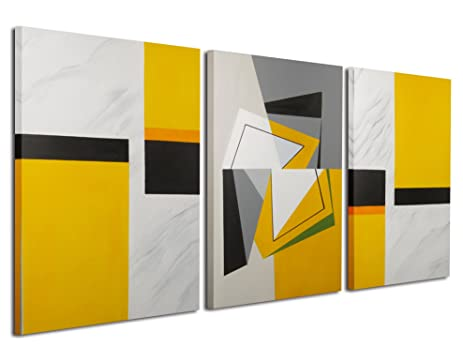 Amazon.com: Gardenia Art - Abstract Geometry Canvas Wall Art 100 ...