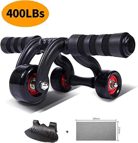 KANSOON Ab Roller Wheel Exercise Equipment – 3 4 Ab Wheel Innovative Ergonomic Abdominal Roller Ab Workout Equipment – Ab Roller for Home Gym – Ab Machine for Ab Trainer -Abs Roller with Knee Pad