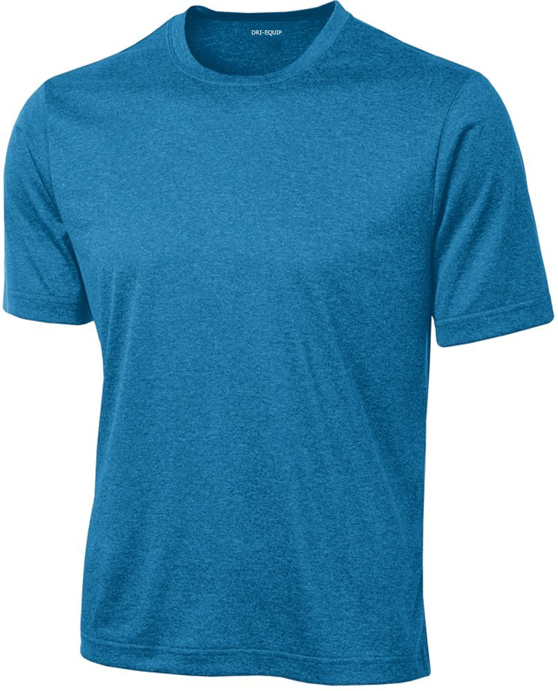 DRIEQUIP Men's Short Sleeve Moisture Wicking T-Shirt-BlueWakeHeather-M by DRIEQUIP