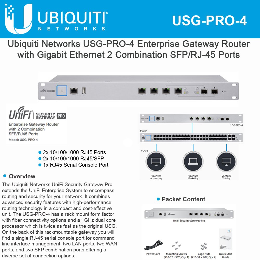 Amazon.com: Ubiquiti Red usg-pro-4 Enterprise Gateway Router ...