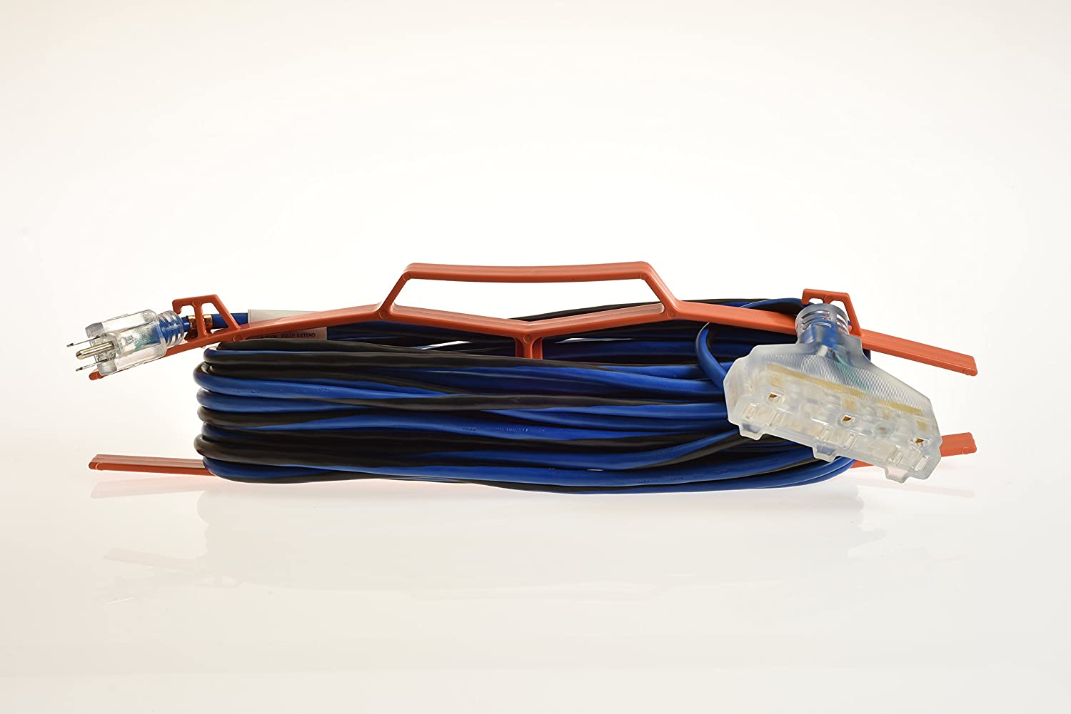 16/3 Gauge Long Extension Cord with Portable Wire Handle Organizer ...