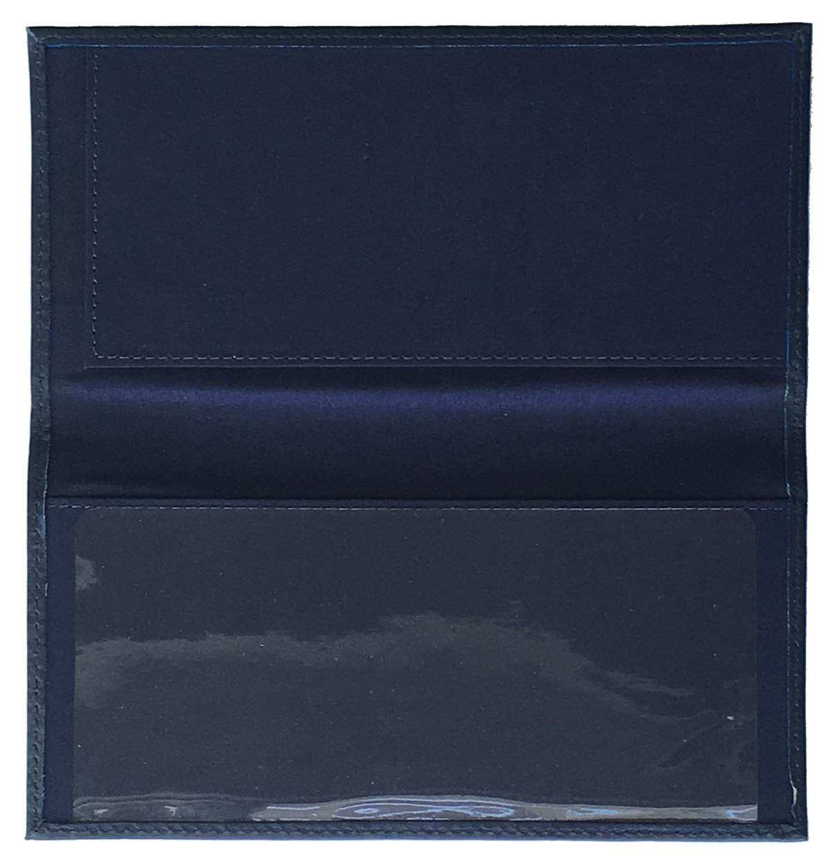 824836a08f61 Blue Basic Leather Checkbook Cover