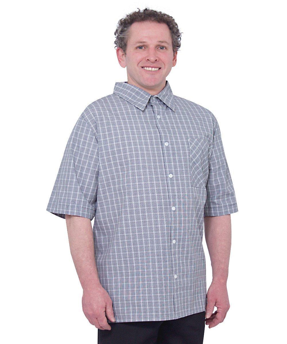 Silverts Disabled Elderly Needs Mens Easy Dressing Open Back Snap Shirt Silvert' s 50700