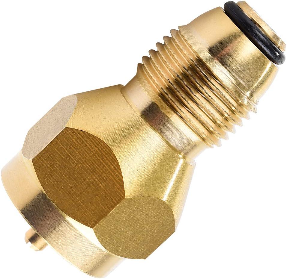 Camping Propane Refill Adapter Lp Gas 1 Lb Cylinder Tank Coupler Heater Bottles