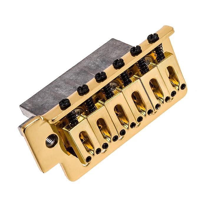 Kmise Oro Guitarra Eléctrica Tremolo Puente Individual sistema de bloqueo de repuesto de guitarra stratocaster: Amazon.es: Instrumentos musicales