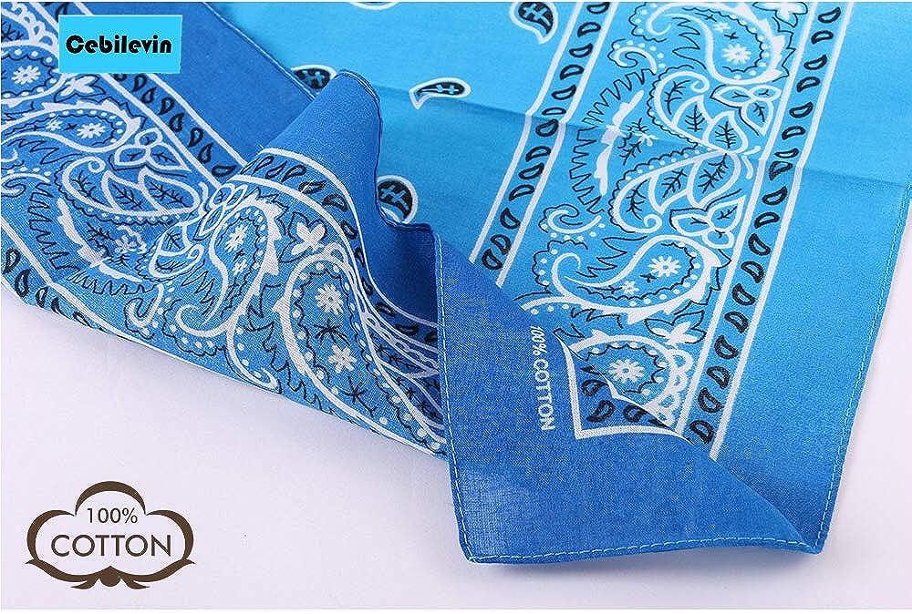 Bandana Kopftuch Tuch Blau 100/% Baumwolle Halstuch Nickituch Schal Biker #9