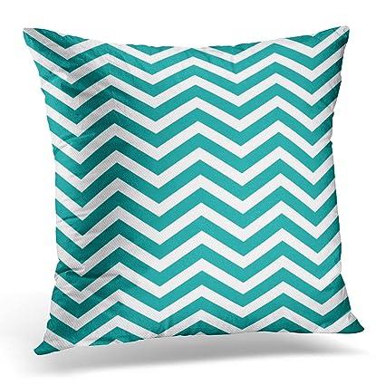 Amazon TOMKEYS Throw Pillow Cover Blue Chevron Dark Teal And Gorgeous Dark Teal Decorative Pillows