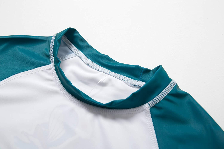 BONVERANO Toddler Boys Rashguards UPF 50 Sun Protection Two Pieces Swimsuit with Sun Cap